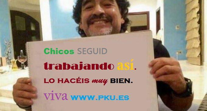Hasta los famosos nos apoyan!: Nuestra web sigue creciendo con mucho PKU humor