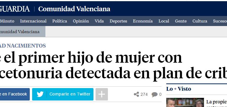Nace el primer hijo de mujer con fenilcetonuria detectada en un plan de cribado en la Comunidad Valenciana: Bienvenido!!