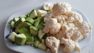 coliflor y calabacín